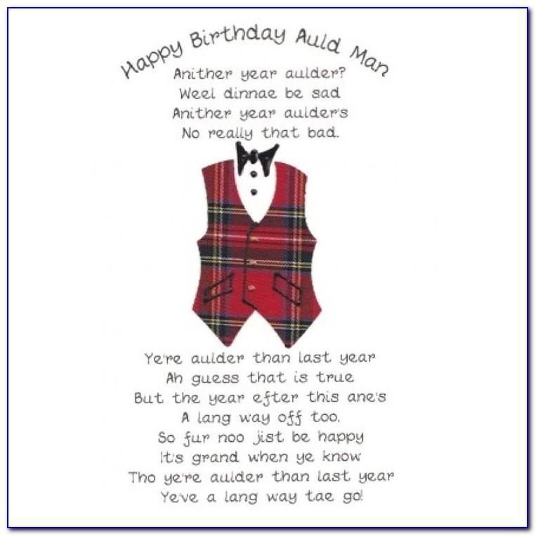 Scottish Themed Birthday Cards