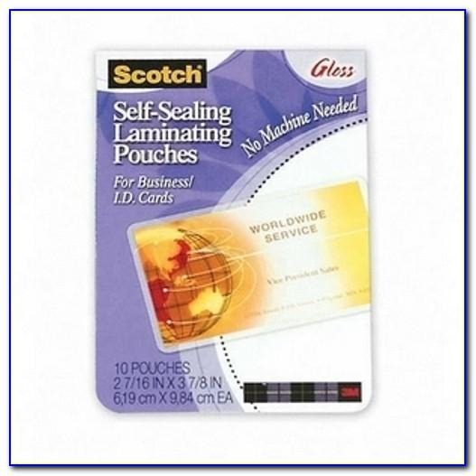 Self Sealing Laminating Pouches Business Card Size