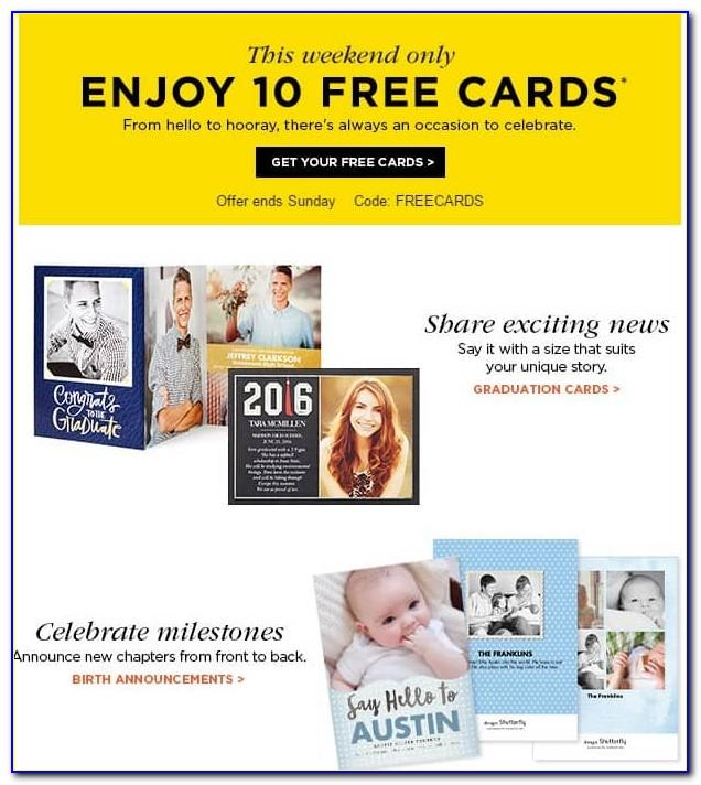 Shutterfly Free Cards Code