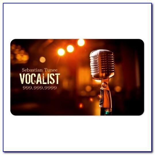 Singer Business Card Template