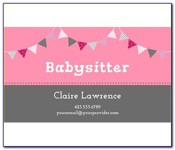 Sitter Business Cards Templates