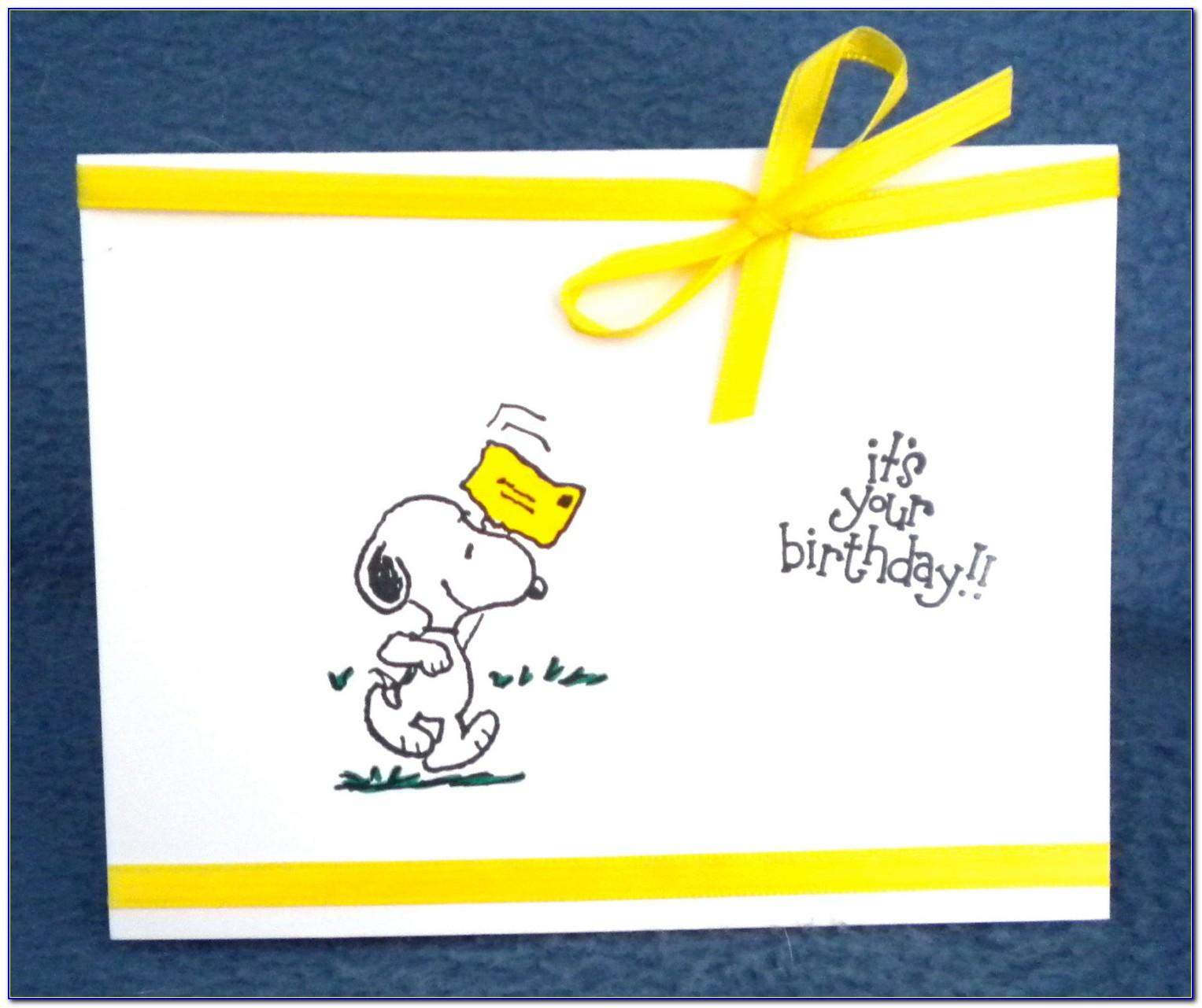 Snoopy Birthday Card Images