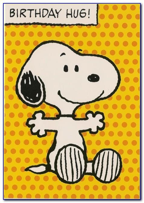 Snoopy Birthday Card Printable Free