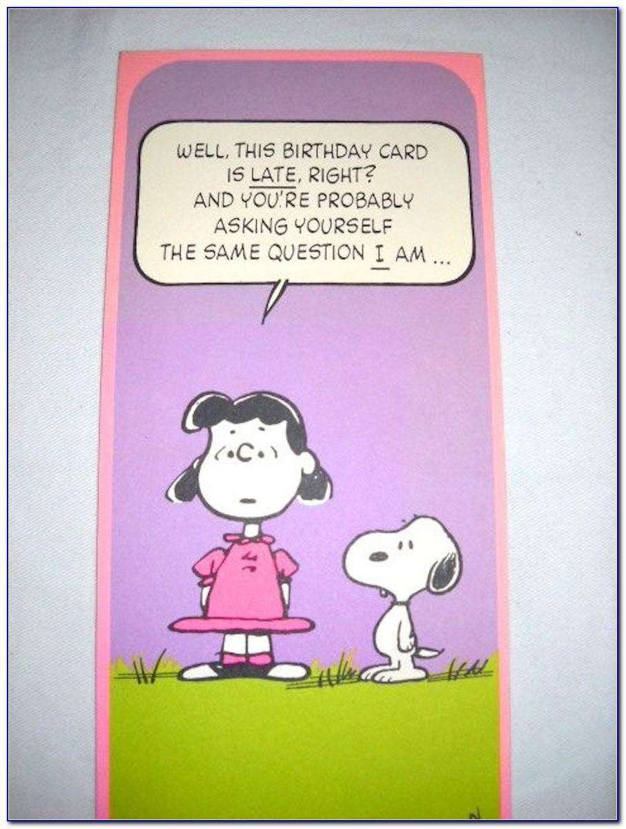 Snoopy Birthday Card Printable