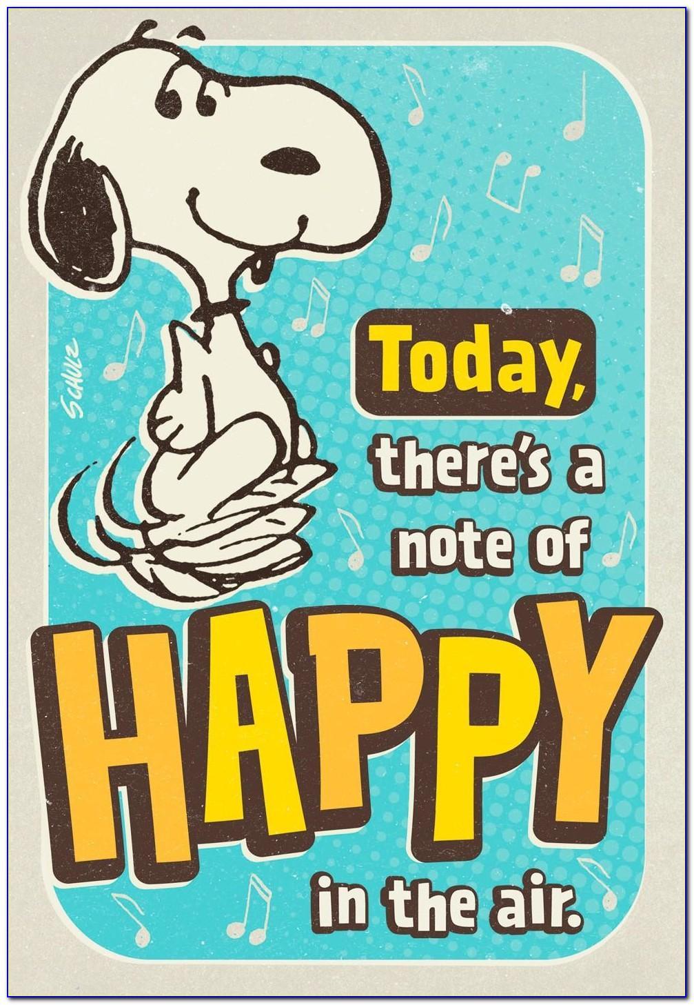Snoopy Birthday Cards Free