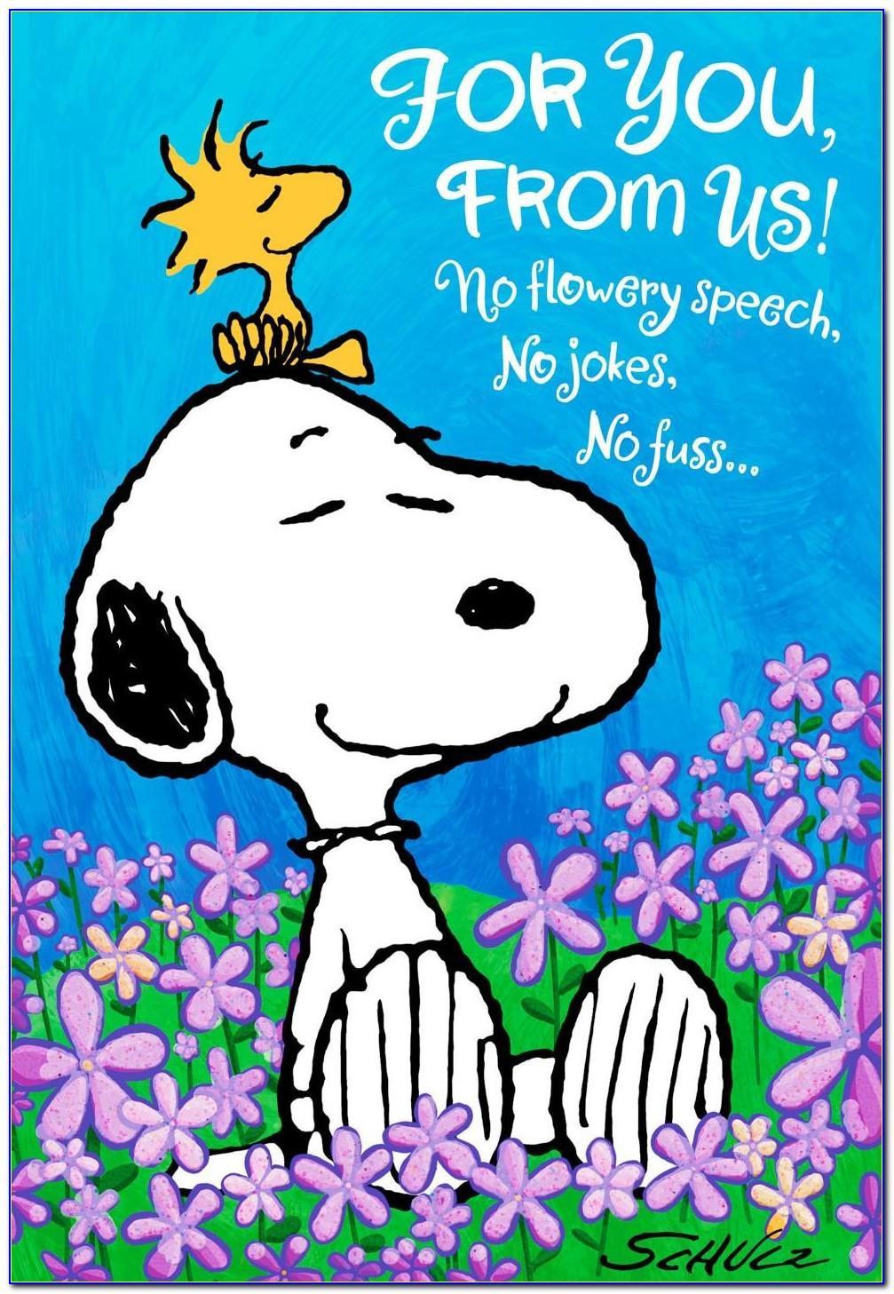 Snoopy Birthday Cards Uk