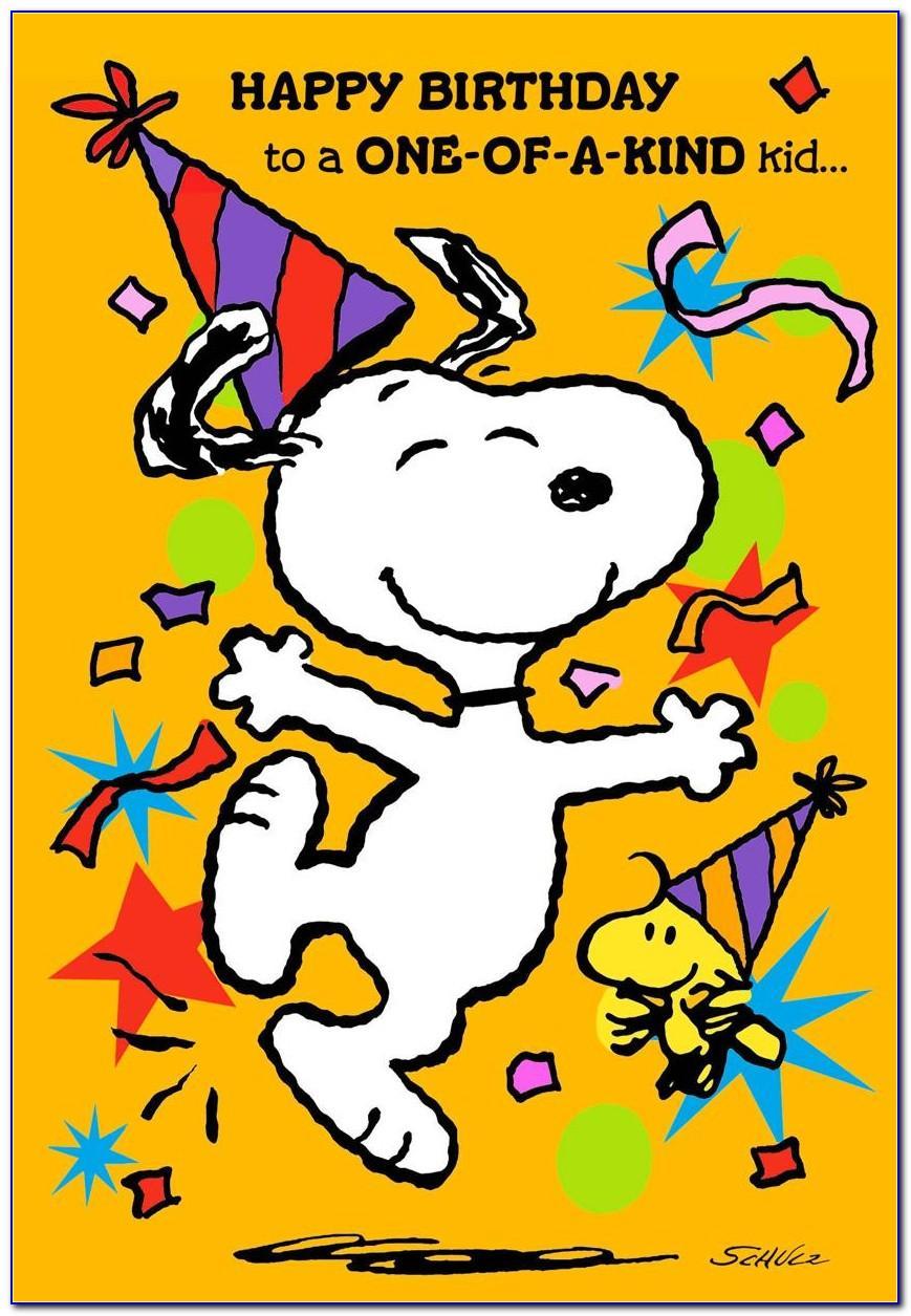 Snoopy Birthday Cards
