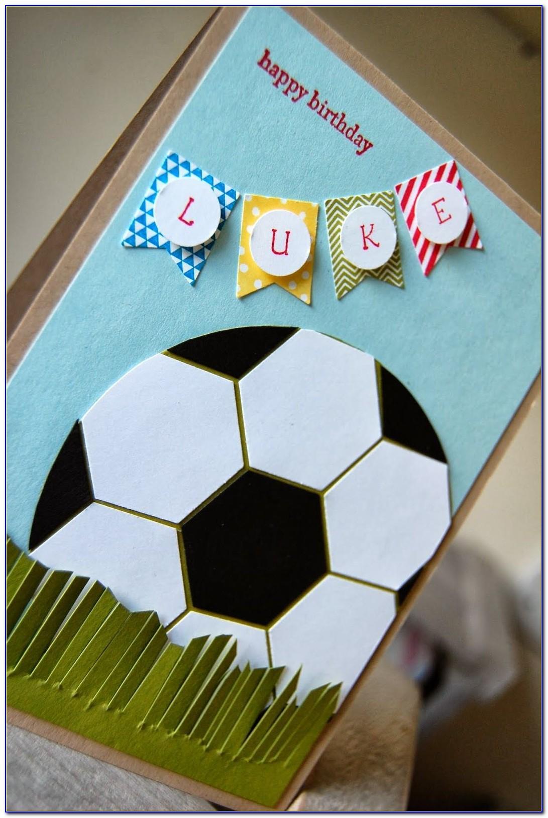 Soccer Birthday Card Ideas