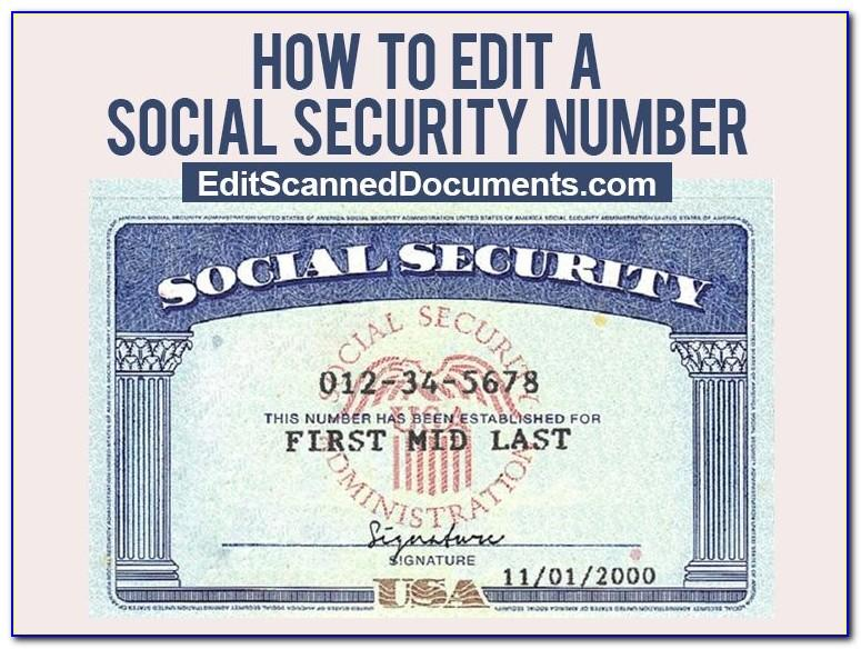 Social Security Card Template Front And Back
