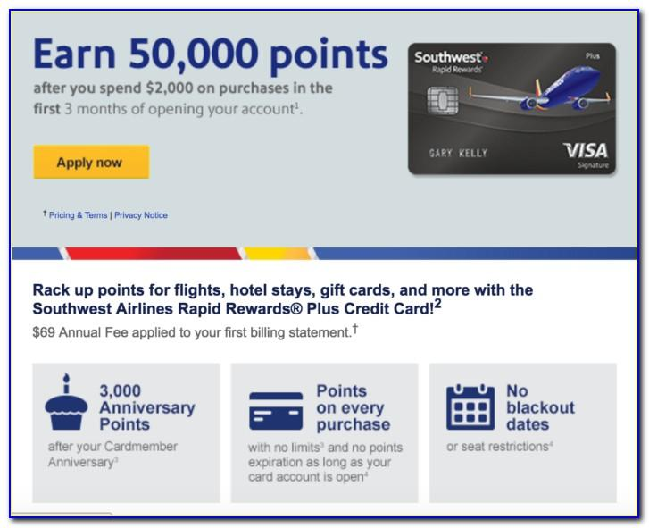 Southwest Airlines Business Card Application