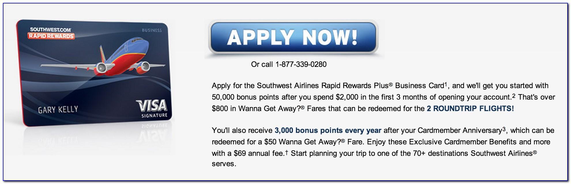 Southwest Business Card Application Status