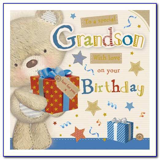 Special Grandson 1st Birthday Cards