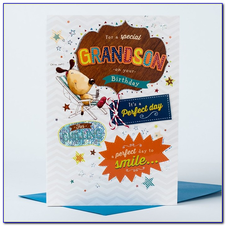 Special Grandson 2nd Birthday Card