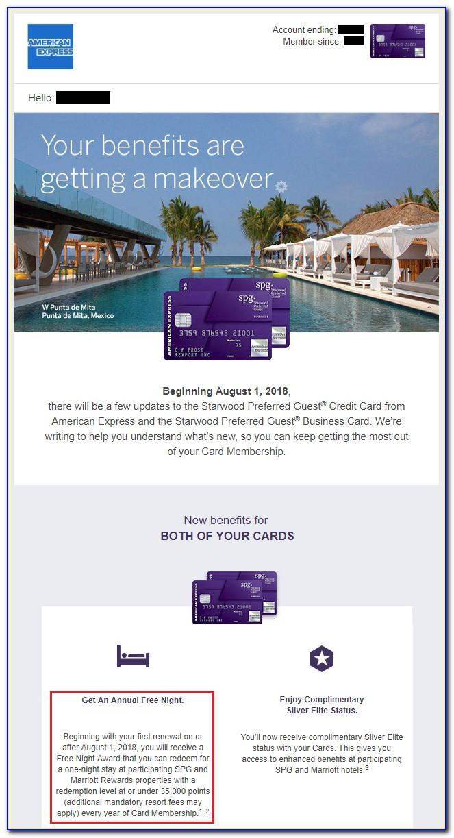 Spg Card Free Night Certificate
