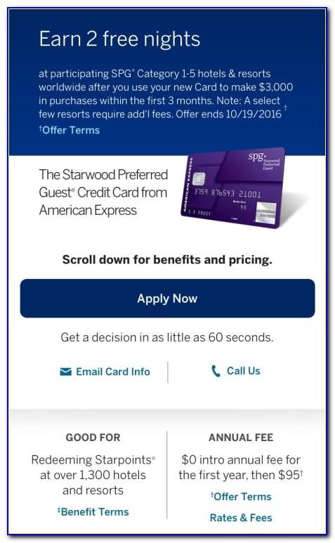 Spg Credit Card Free Night