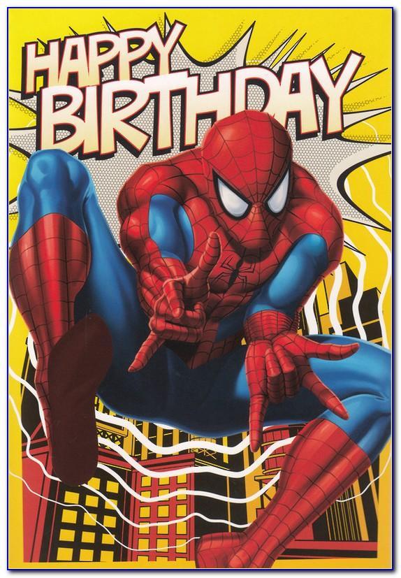 Spiderman Birthday Card Printable Free