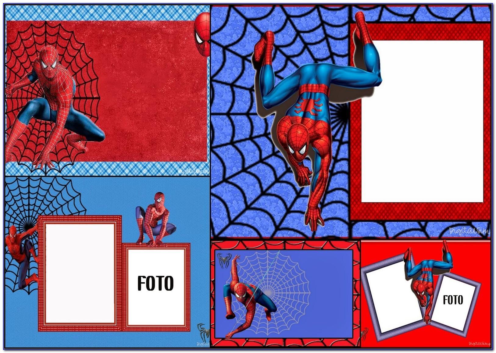 Spiderman Birthday Invitation Cards Free