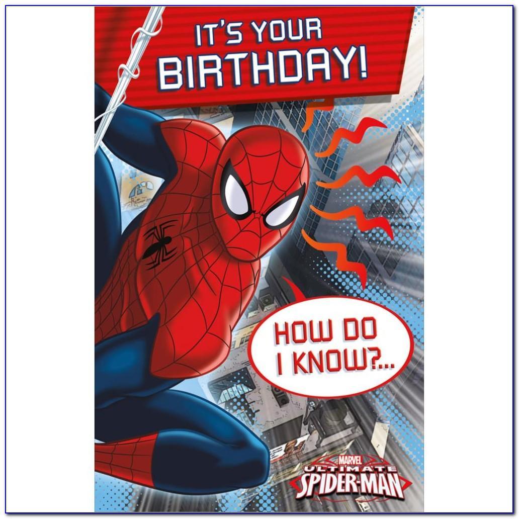 Spiderman Happy Birthday Card Printable