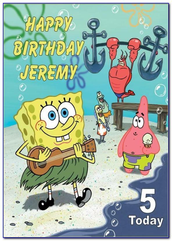Spongebob 25 Birthday Card Printable