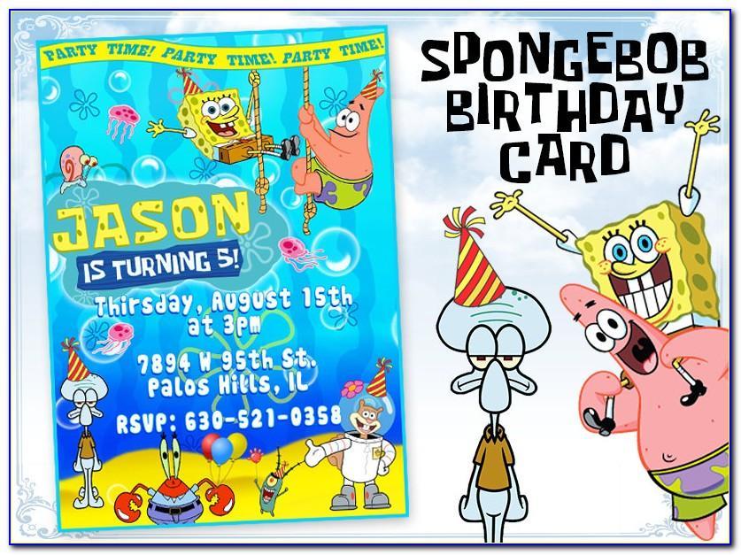Spongebob Birthday Card Printable