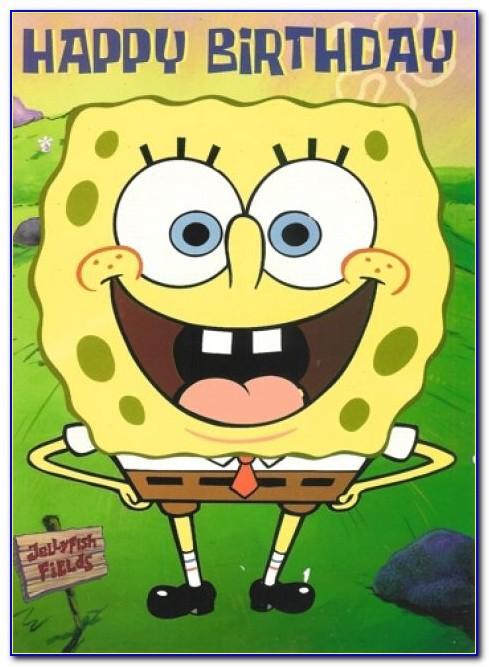 Spongebob Birthday Cards Free Printable