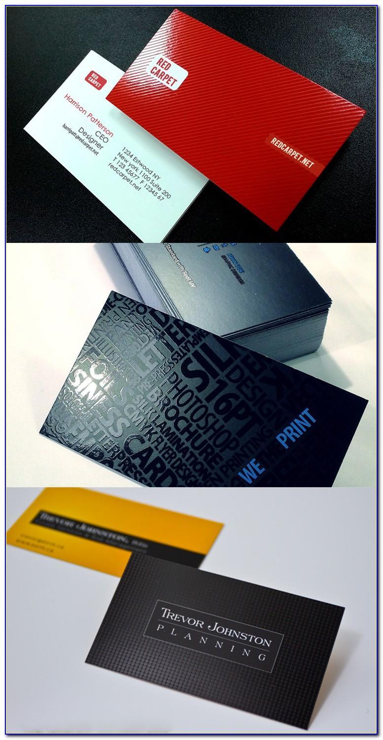 Spot Uv Business Cards Mockup