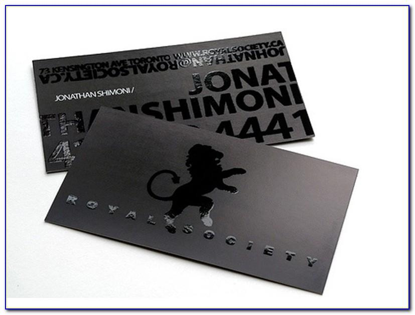 Stainless Steel Business Cards India