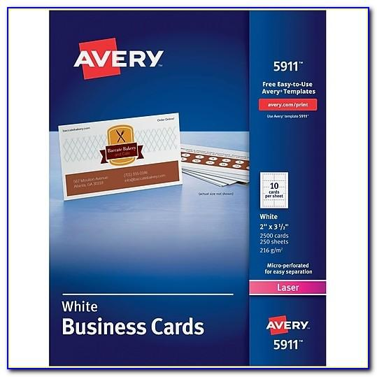 Staples Avery Business Cards