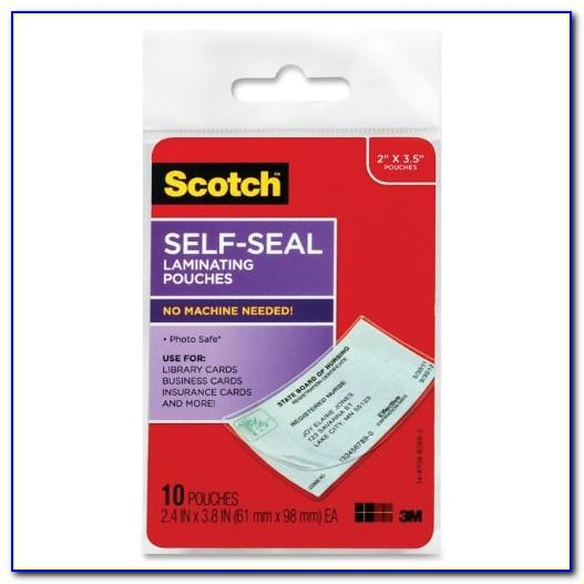 Staples Hot Laminating Pouches Business Card Size