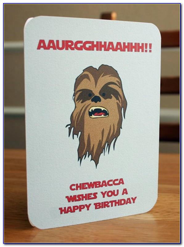 Star Wars Happy Birthday Card Printable