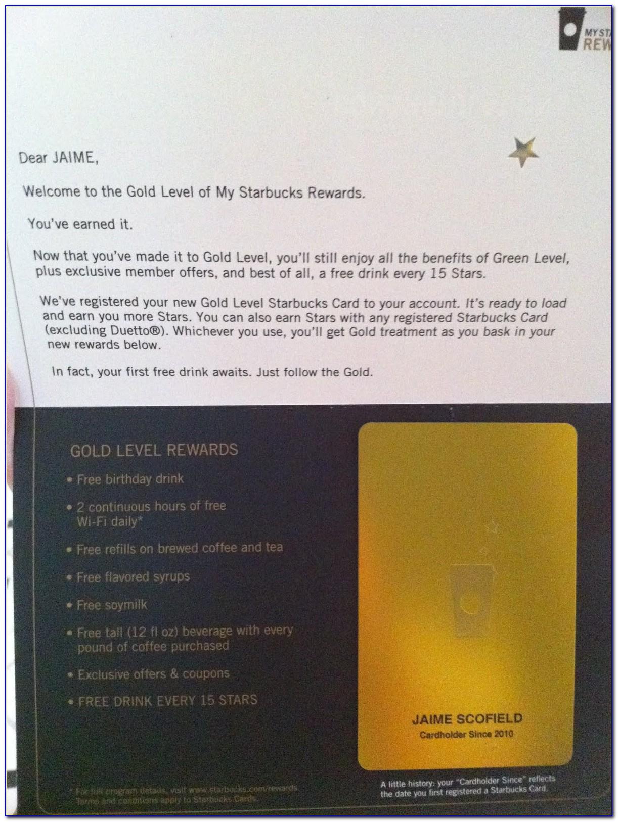 Starbucks Gold Card Free Coffee Refills