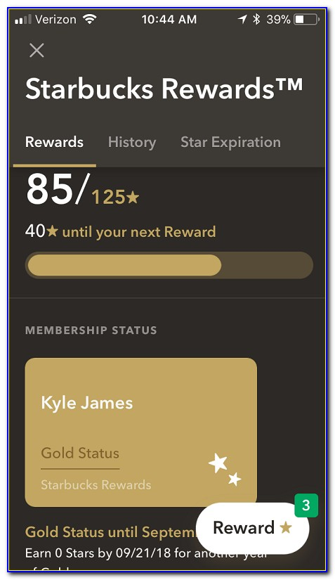 Starbucks Gold Card Free Tea Refills