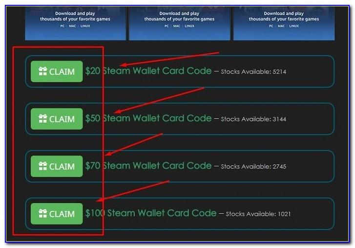 Steam Wallet Gift Card Codes Free
