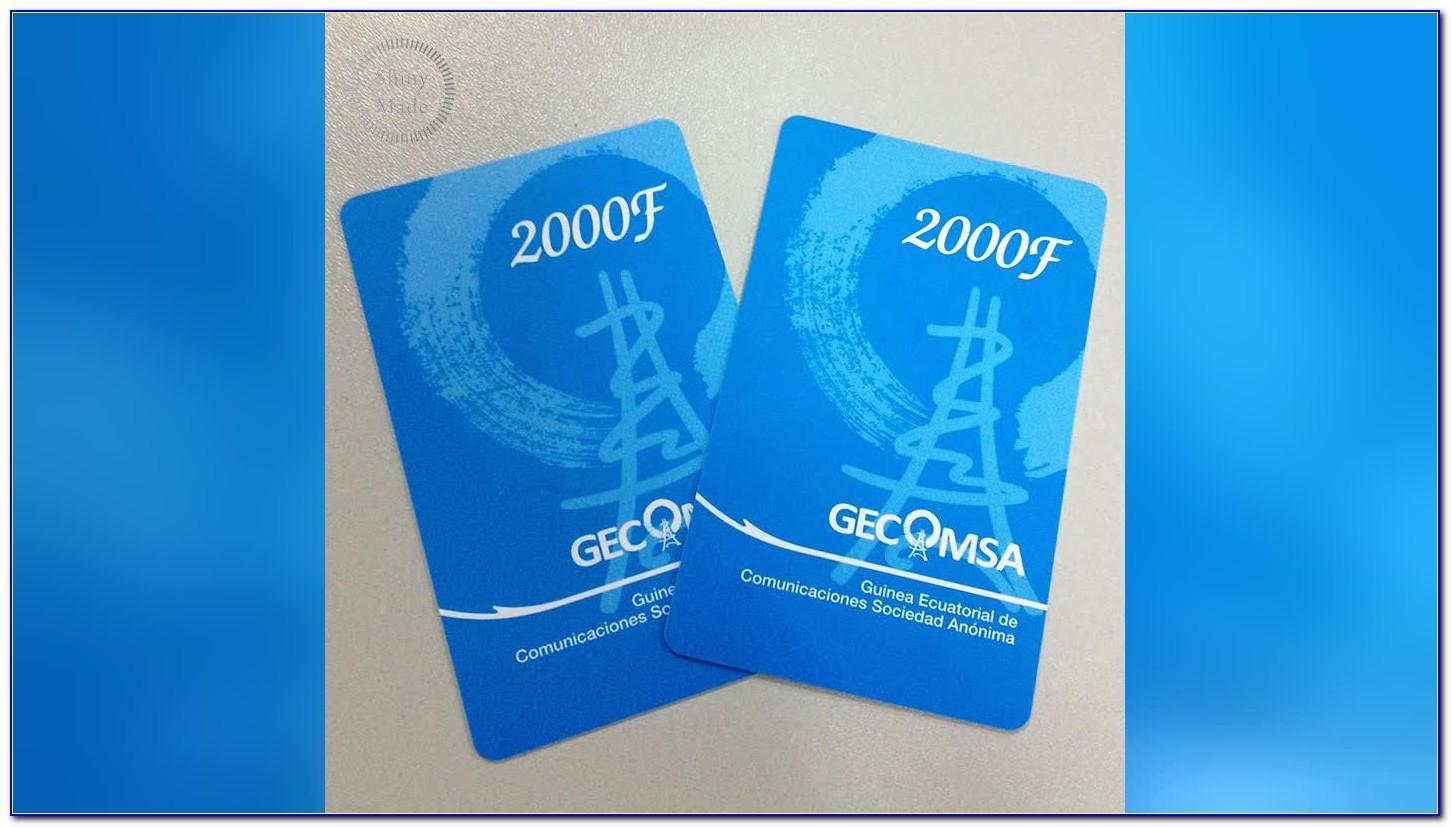Sublimation Plastic Business Card Blanks