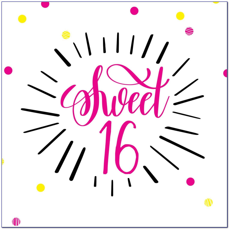 Sweet 16 Birthday Cards Free Printable