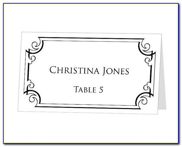 Table Card Template Word