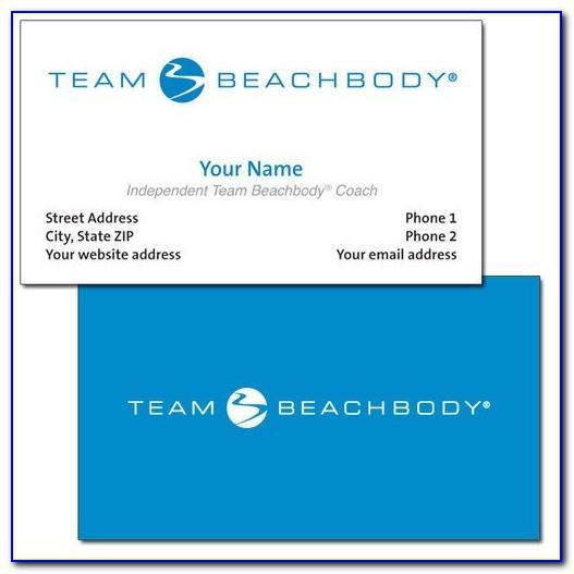 Team Beachbody Business Cards