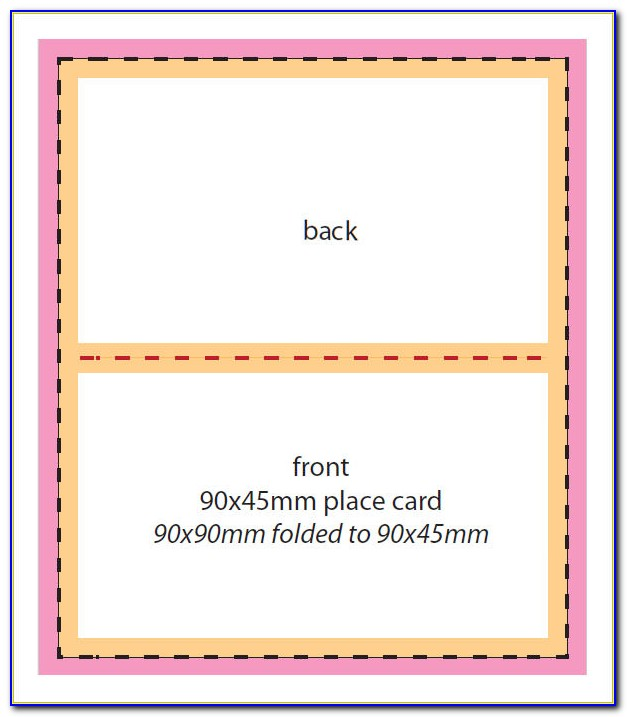 Tent Card Design Template Free Download