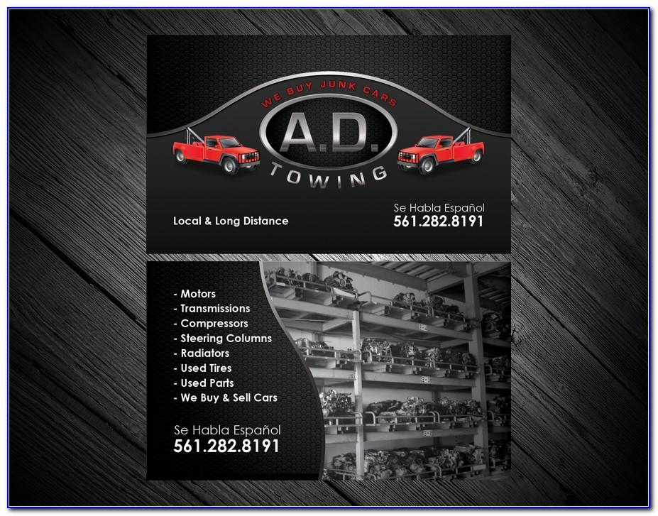 Towing Business Card Ideas
