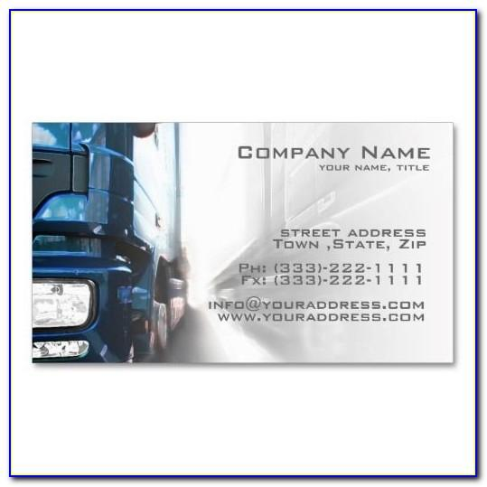 Trucking Business Cards Templates Free