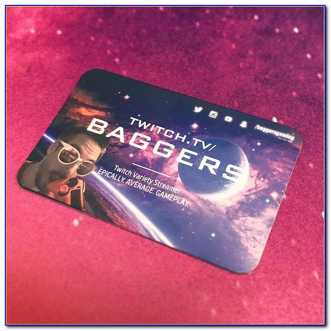 Twitch Streamer Business Cards