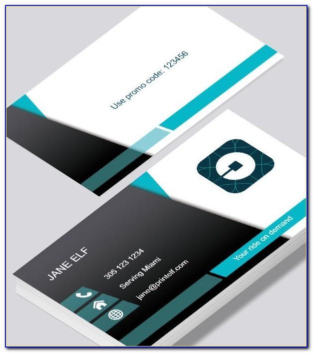 Uber Lyft Business Cards Vistaprint