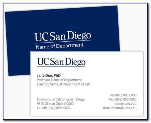 Ucsd Business Cards