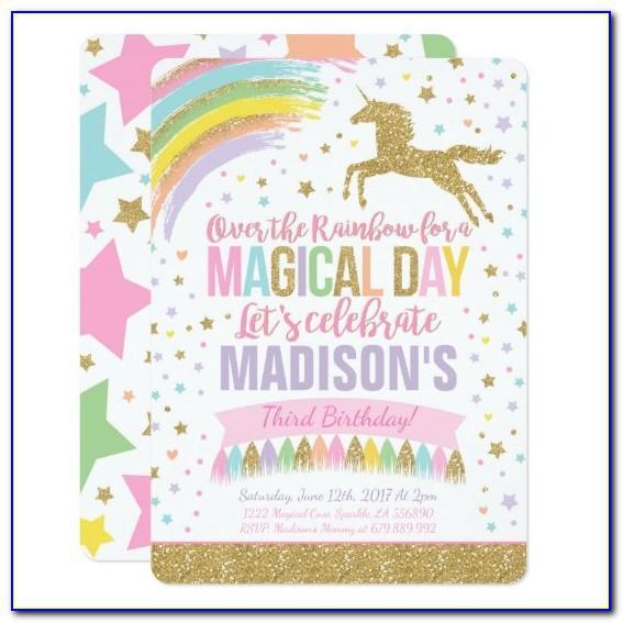 Unicorn Birthday Invitation Card Maker