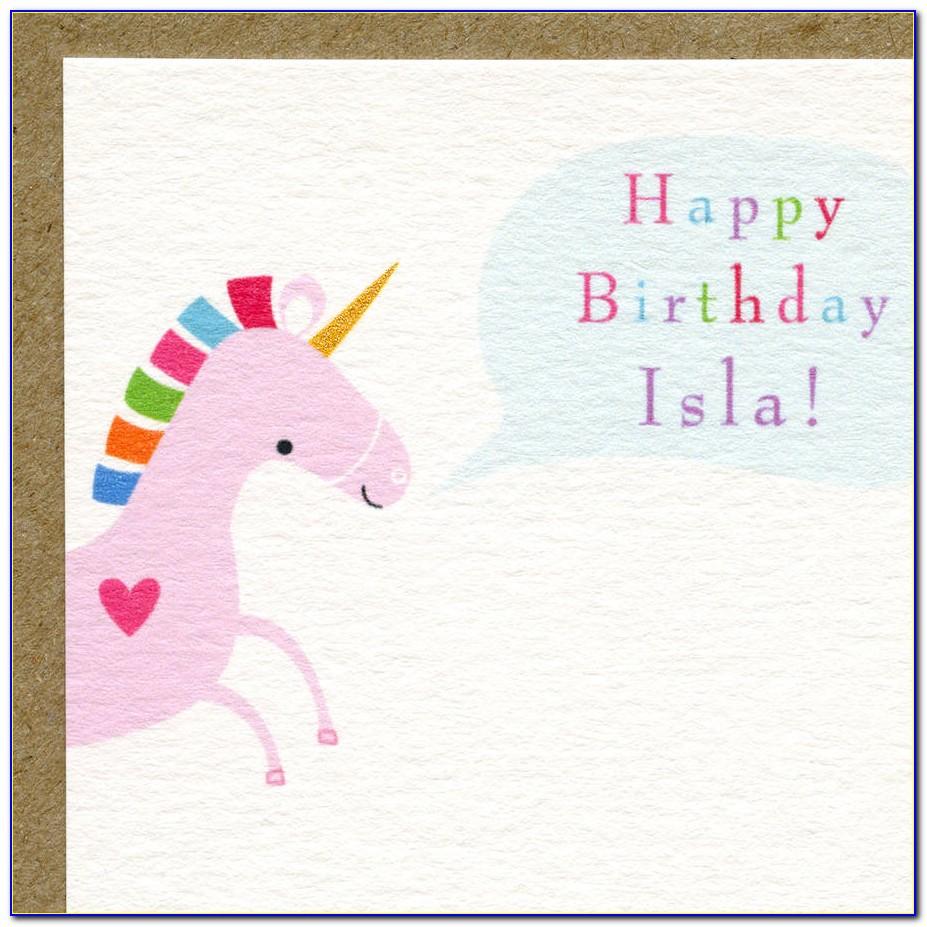Unique First Birthday Invitation Card