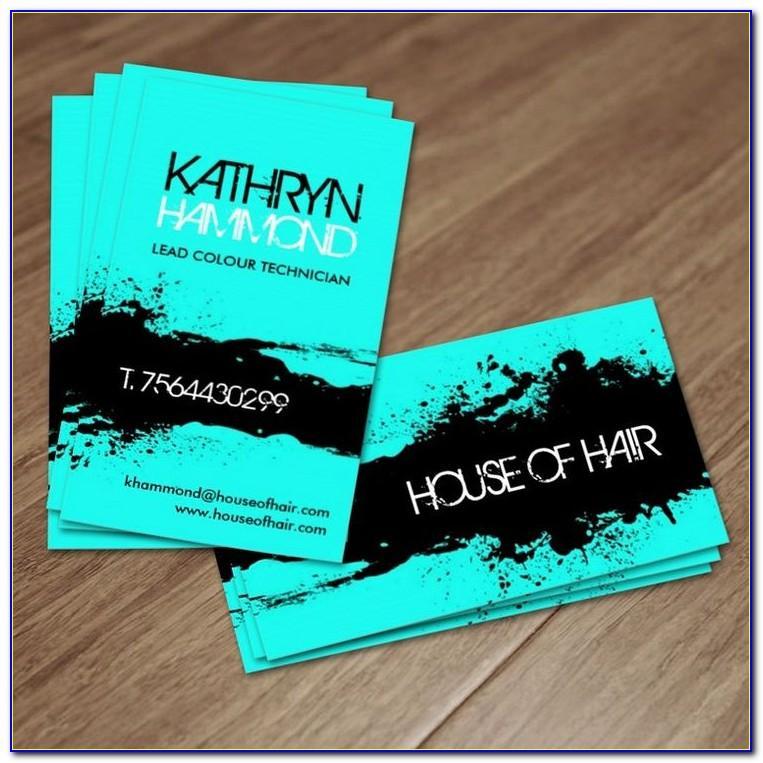 Unique Hair Stylist Business Cards