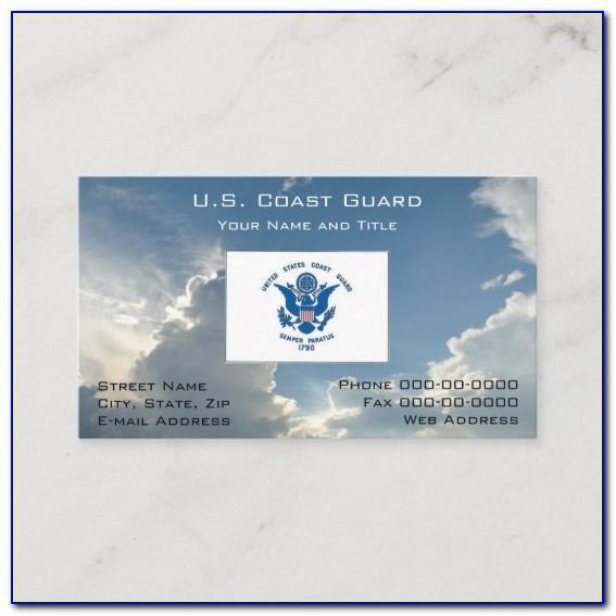Us Coast Guard Auxiliary Business Cards