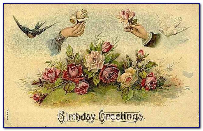 Vintage Birthday Cards Free Downloads