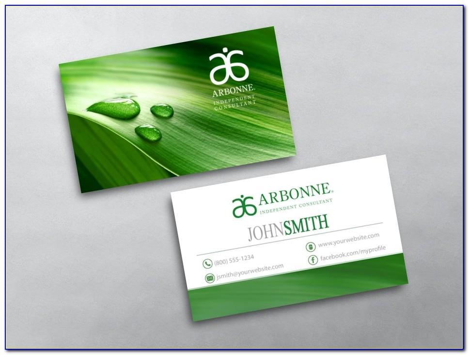 Vistaprint Arbonne Business Cards