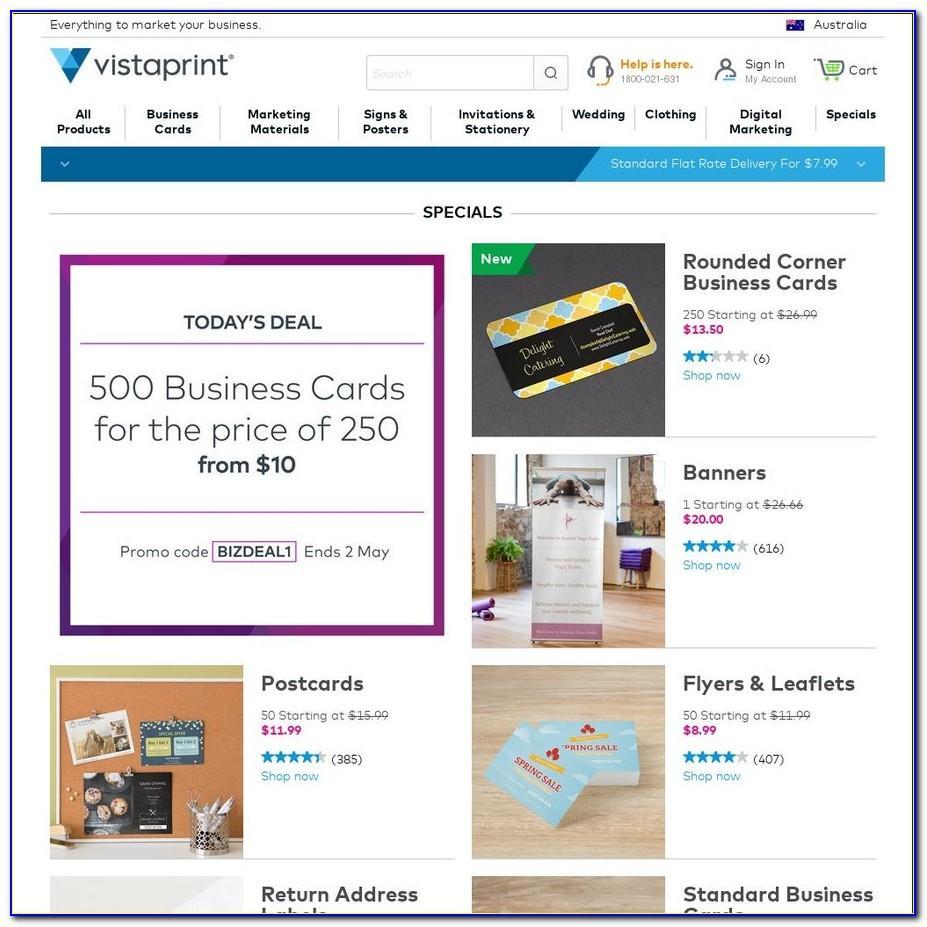 Vistaprint Business Card Deal